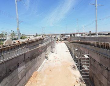 Registra 80% de avance construcción del distribuidor vial de la 45 Norte