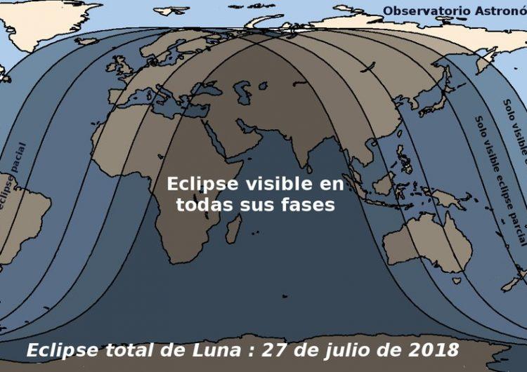 ¿Listo para el eclipse total de luna más largo del siglo? Estas son las fechas y lugares para verlo