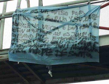 Aparece en Monterrey manta con advertencia de más ataques violentos en NL