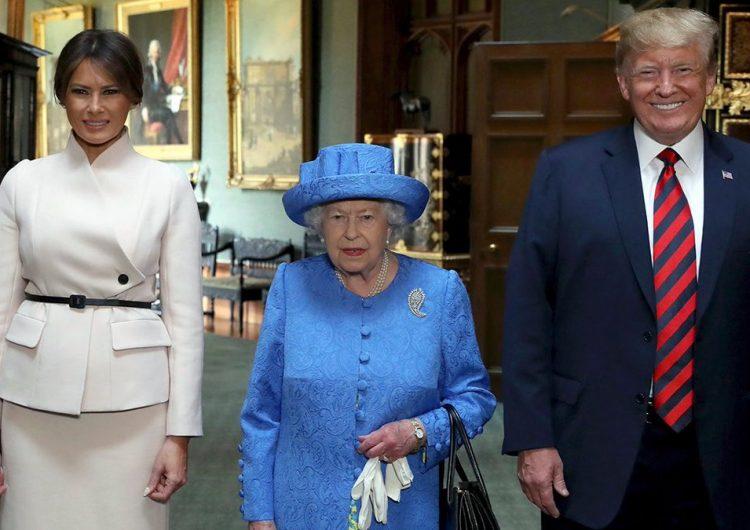 Así recibió la Reina Isabel II a Donald y Melania Trump