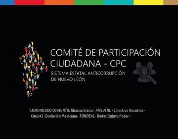Piden transparencia y difusión en elección del CPC del Sistema Estatal Anticorrupción de NL
