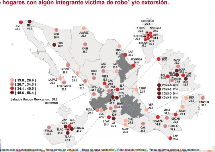 Ubican a cuatro municipios de la ZMG por alta incidencia de robo y extorsión en el hogar