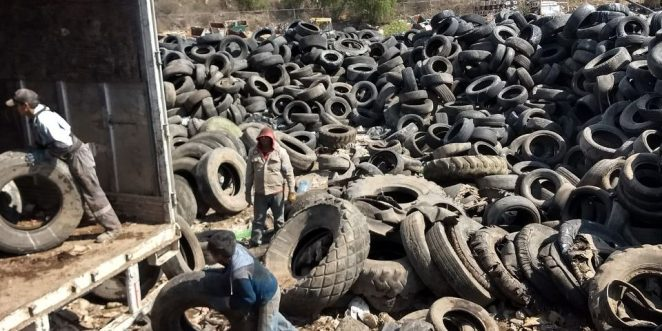 Retiran 867 toneladas de llantas de relleno sanitario de El Huixmi