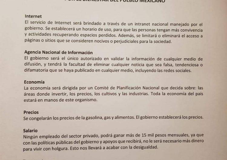 Circula boletín falso en WhatsApp sobre las acciones de gobierno de Morena