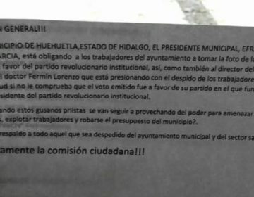 Acusan a edil de coaccionar voto por PRI en Huehuetla