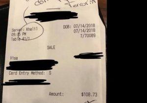 """""""No damos propina a terroristas"""": el mensaje de odio de unos clientes hacia un mesero en Texas"""