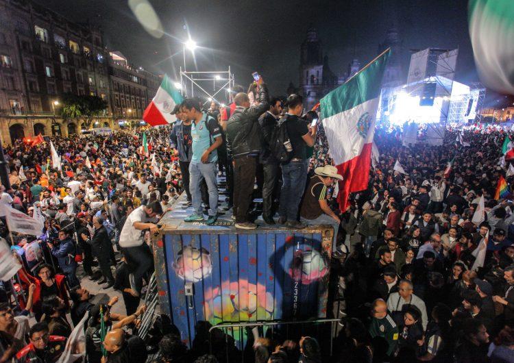 Así se vivió el festejo de la victoria electoral del AMLO en la CDMX