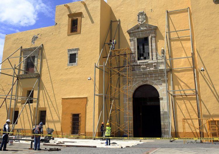 Rehabilitación de templos en Puebla continúa