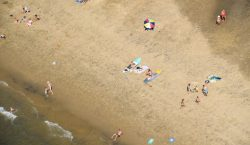 Un hombre cavó tanto en la arena de una playa…
