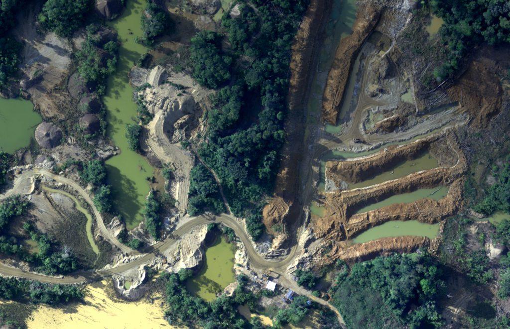 Minería ilegal. Foto: AFP