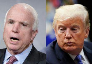 Trump no asistirá a funeral del senador John McCain