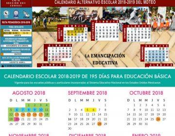 Va Sección 22 con calendario escolar alternativo; compromete 209 días de clases en ciclo 2018-2019