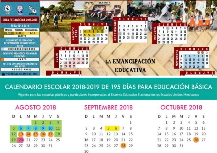 Calendario Escolar 18 19 Puebla.Va Seccion 22 Con Calendario Escolar Alternativo Compromete