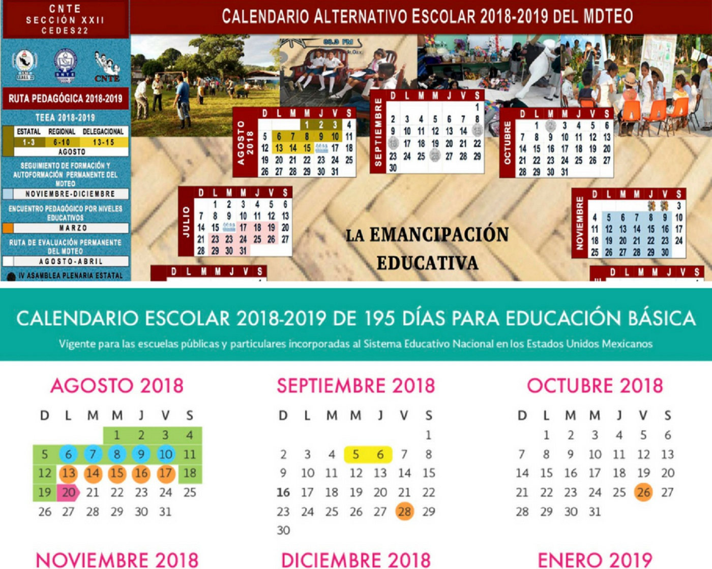 Calendario Escolar 2018 Panama.Va Seccion 22 Con Calendario Escolar Alternativo Compromete