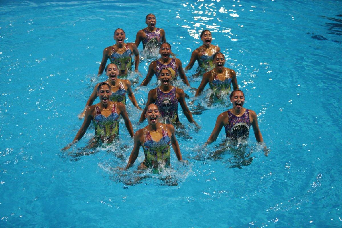 Mexicanas ganan Oro en nado sincronizado con música de Coco