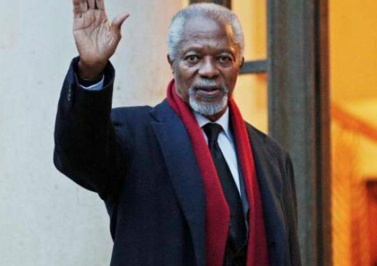 Muere ex secretario general de la ONU y Nobel de la paz, Kofi Annan