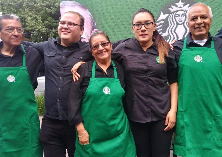 Starbucks abre en la CDMX su primera sucursal  atendida por adultos mayores
