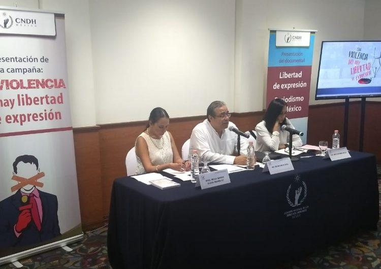 Autoridades, omisas ante ataques a periodistas: CNDH