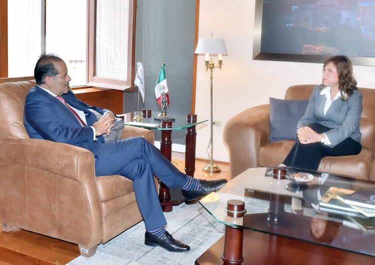 Se reúnen MOS y presidenta del Supremo Tribunal de Justicia de Aguascalientes