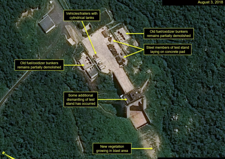 """¿Corea del Norte va """"más allá"""" en su promesa a Trump? Fotos muestran desmantelamiento de estación de satélites"""