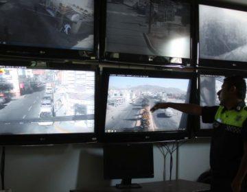 Registran cámaras accidentes, operativos y atracos