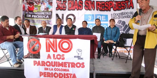 Pedirán a la LXIV Legislatura anular los parquímetros en Pachuca