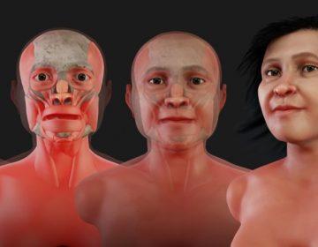 Este es el rostro de Eva de Naharon, la mujer más antigua de América y que murió hace 13 mil años