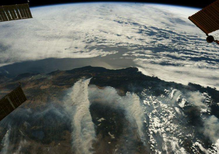 Desde el espacio: Fotos muestran los devastadores incendios de California