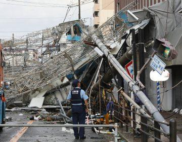 El peor tifón registrado en Japón en 25 años deja al menos 6 personas muertas