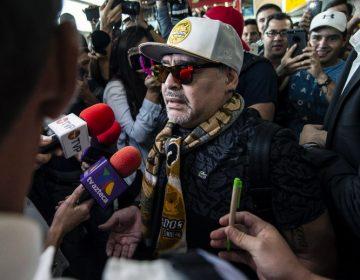 Llega Maradona a Sinaloa y se prepara para encuentro con sus nuevos jugadores