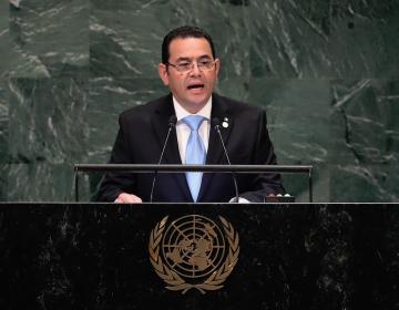"""La comisión anticorrupción de la ONU es una """"amenaza a la paz"""", dice el presidente de Guatemala"""