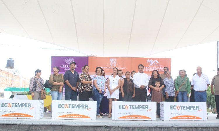 Entregan calentadores solares a 350 familias de Pabellón de Arteaga