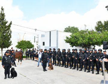 Retiran con honores a caballo y perros pertenecientes a la policía municipal