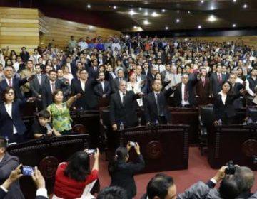 Protesta primer Congreso local de mayoría opositora