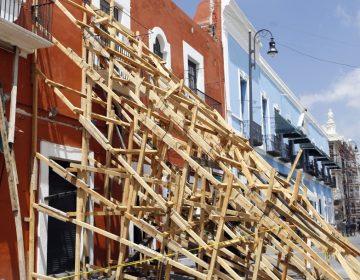 Inversión de 15mdp para apuntalar edificios dañados en el centro histórico