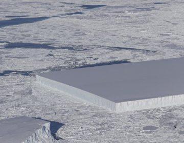 La NASA detecta un extraño iceberg rectangular en la península Antártica