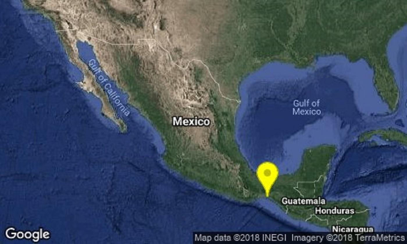 Sismo de 5.0 grados al Suroeste de Petatlán, Guerrero