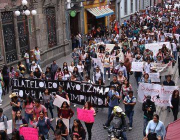 Exigen justicia a 50 años del Movimiento del 68 y por el caso Ayotzinapa