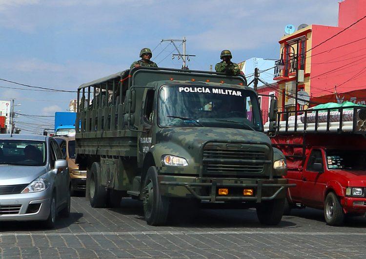 Aumenta presencia militar en Puebla