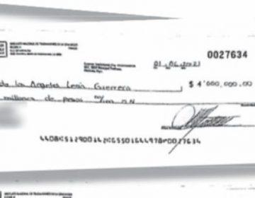 De una sola cuenta, Mirna García desvió $108 millones