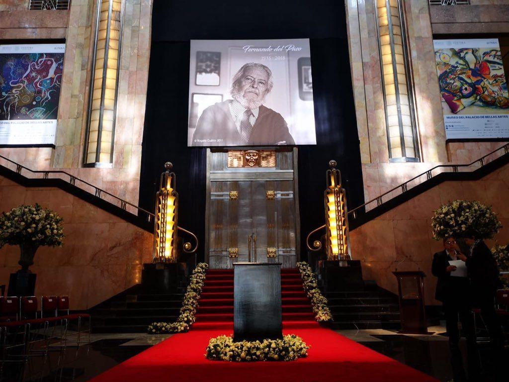 Homenajearán a Fernando del Paso en Bellas Artes