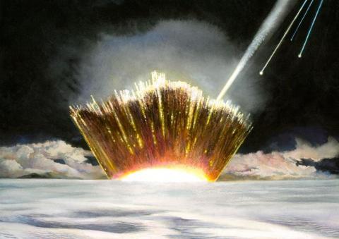 Descubren en Groenlandia un cráter del tamaño de París provocado por el impacto de un meteorito