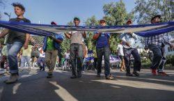 Cientos de integrantes de la caravana migrante salen de CDMX…
