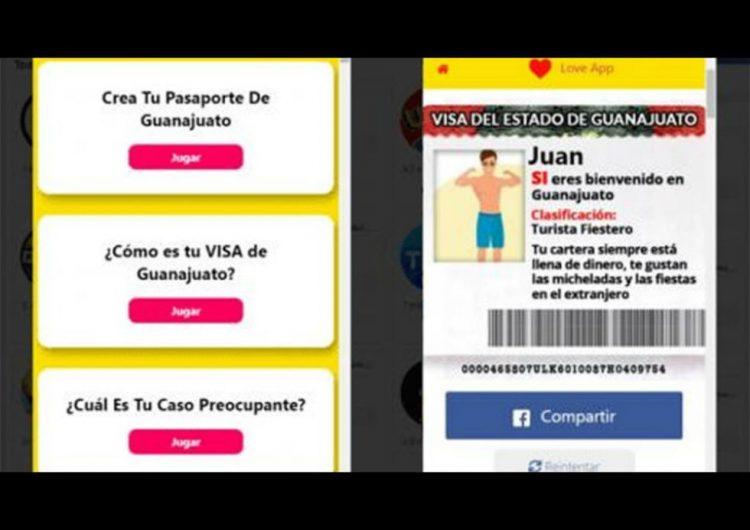 """¿Usaste la app de FB que """"tramita"""" visas para Guanajuato? Tus datos podrían estar en riesgo…"""