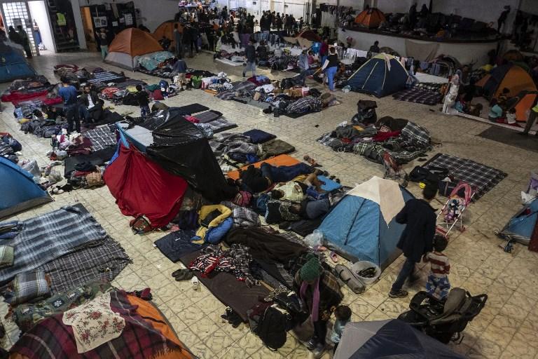 Los rastros de la caravana de migrantes en Tijuana