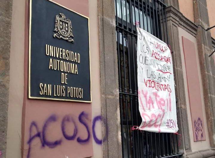 Comunidad de UASLP pide no criminalizar manifestaciones por acoso sexual