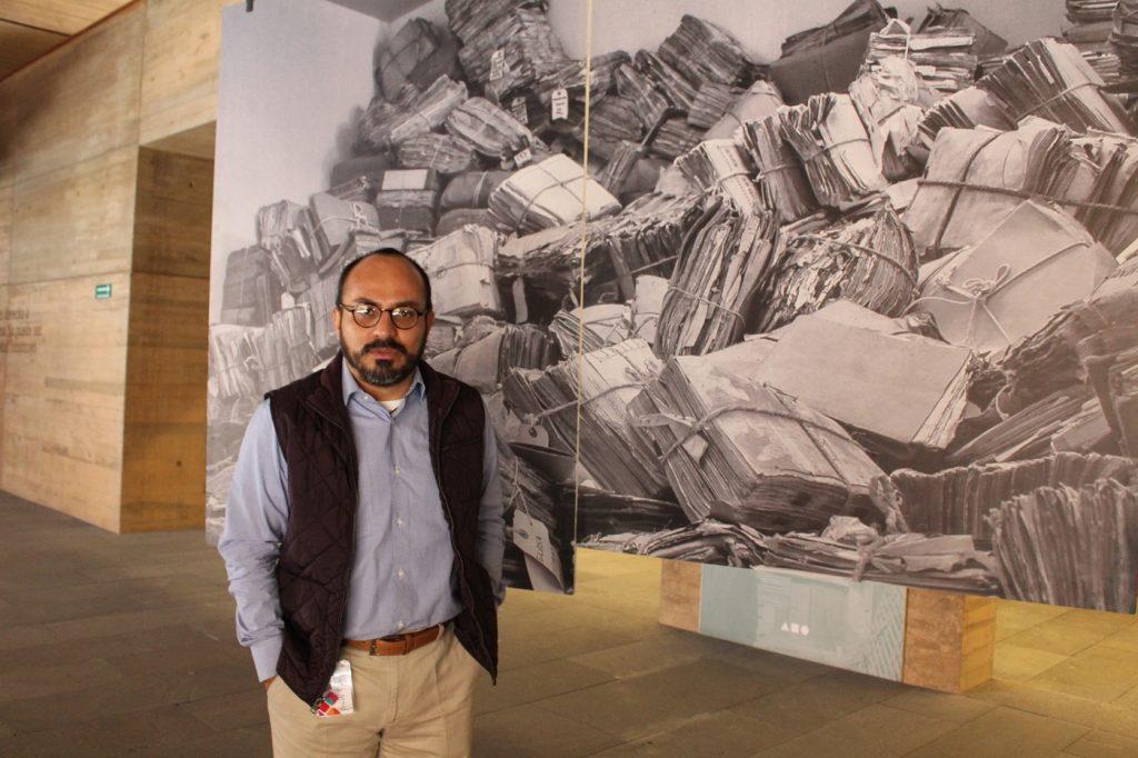 Emilio de Leo Blanco, director del Archivo General de Oaxaca/ Foto: Flor Hernández