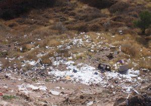 Tiran escombro de forma clandestina en Bosque de Cobos