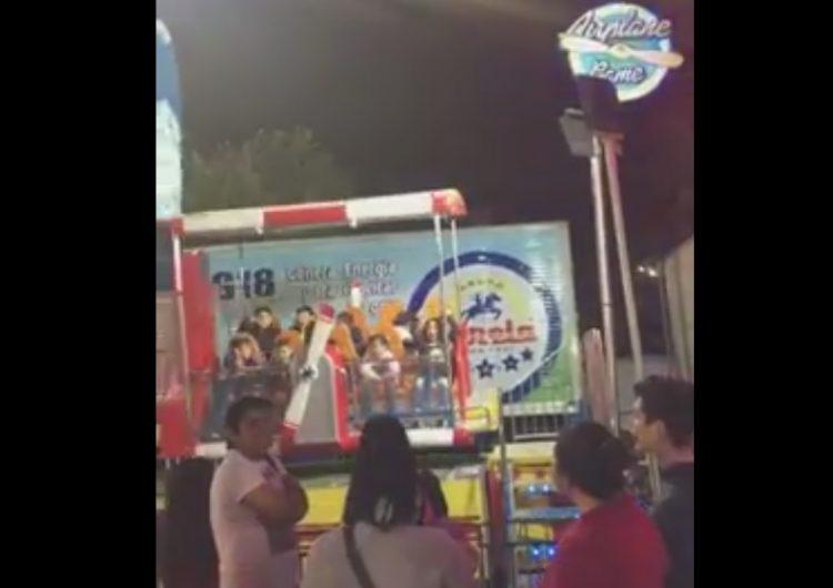 Juego mecánico en la Feria de León se sale de control y deja niños lesionados