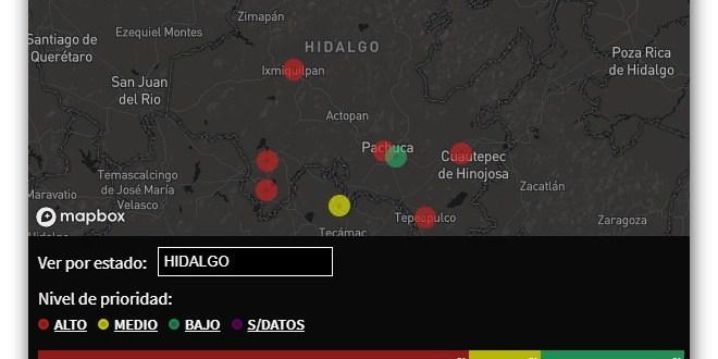 Detectan en Hidalgo 6 zonas con alto índice de violencia